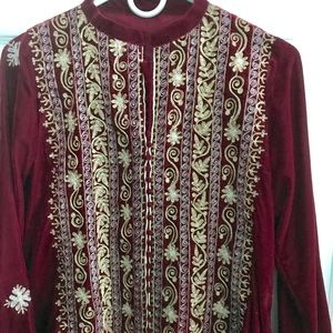Velvet kurti Indian Pakistani party wear